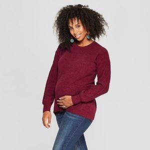 Ingrid and Isabel maternity crew neck sweater